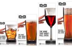 Untippable Barware - Mighty Mug's Latest Addition is Barware That Withstands 5 to 10 Pounds of Force