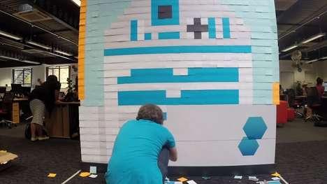 Galactic Pixel Paper Murals