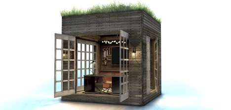Portable Box Homes - The 'Teeny Box' is a Prefabricated Space Made from Reclaimed Materials