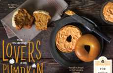 Festive Pumpkin Bagel Menus - Einstien Bros. Releases a Line of Fall Fare for the Change of Seasons
