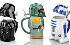 Intergalactic Beer Steins - These Star Wars Steins Let You Grab a Brew with Chewie, Darth and R2-D2
