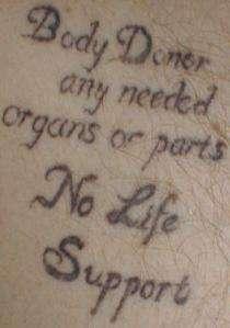Organ Donor Tattoos