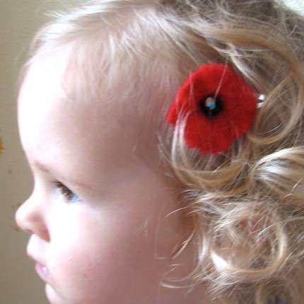Accessorizing With Red Flowers
