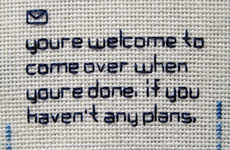Needlepoint SMS - 'Embroidered Text Messages'