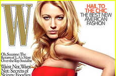 "Patriotic Couture - Blake Lively Rocks the Flag for ""W"" Magazine"