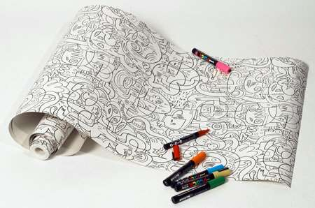 Coloring Book Walls - Jon Burgerman Wallpaper