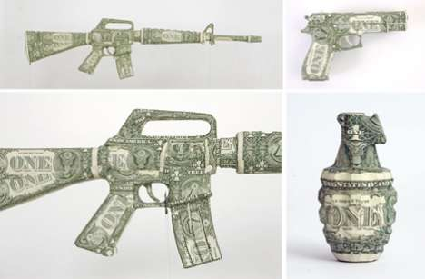 Bank Note Sculptures