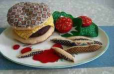 Knit Junk Food - Burgers as Inedible Art