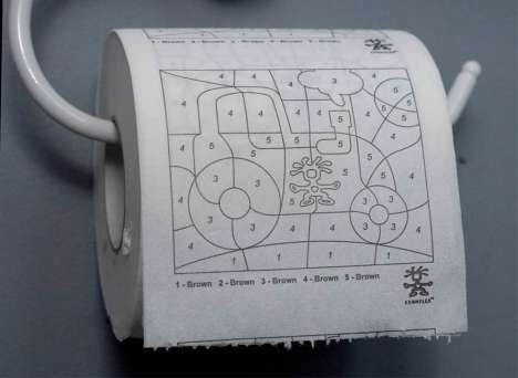 Paint-By-Number Toilet Paper