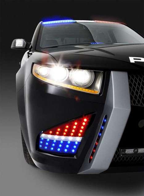 Cartoon-Style Cop Cars