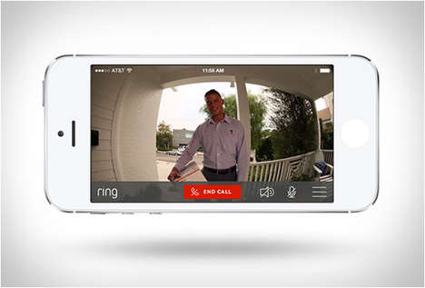 Video Doorbell Apps - 'Ring' is a Device That Connects to Smartphones to Alert Users of Any Visitors
