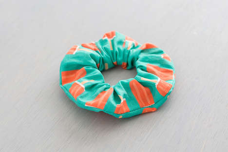 Homemade Retro Scrunchies - These DIY Hair Ties add a Vintage Flare to Your Hairstyle of Choice