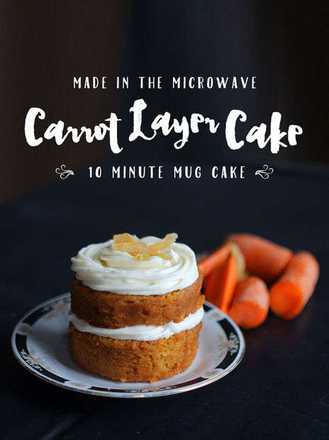 Quick Carrot Mug Cakes