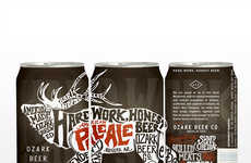 Urban Wilderness Beers - The Ozark Beer Can Stands Out By Contrasting Graffiti & Wildlife