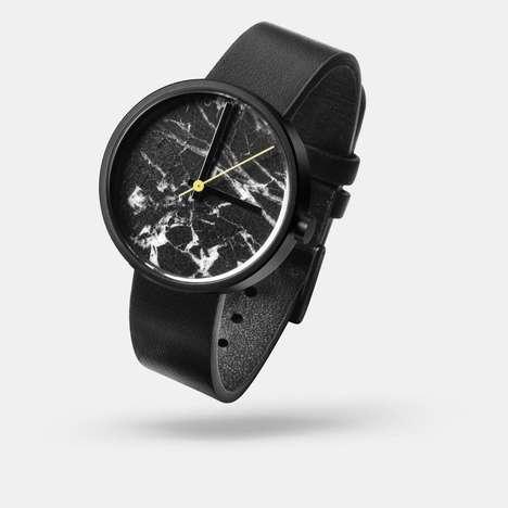 Sleek Marble Timepieces
