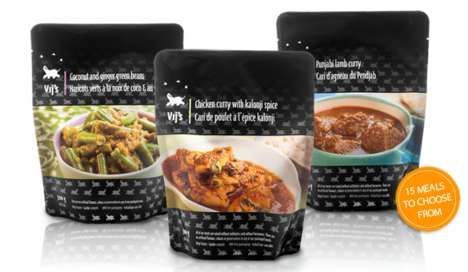 Frozen Curry Dinners - These Pre-Packaged Meals Offer a Taste of Authentic Indian Cuisine