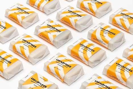 Geometrical Raw Soap Branding