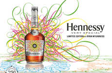 Kaleidoscopic Cognac Bottles - The Ryan McGinness for Hennessy Bottle Boasts a Dizzying Design