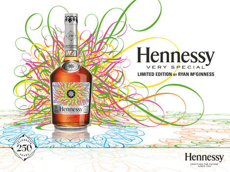 The Ryan McGinness for Hennessy Bottle Boasts a Dizzying Design