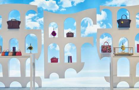 The Fendi Pop-Up at Harrods Imitates the Brand's New Headquarters