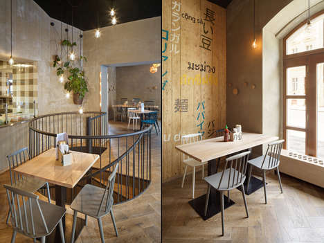 Warm Asian Eatery Interiors