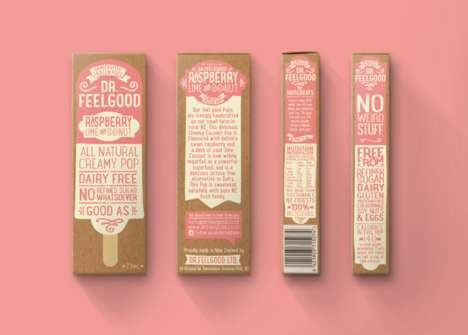 Retro Popsicle Branding - Dr. Feelgood Frozen Pops Feature a Vintage Brand Identity
