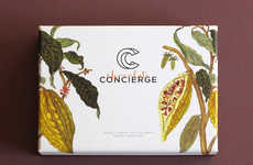 Artisan Chocolate Box Designs - The Packaging for Chocolate Conierge Features Earthy Illustrations
