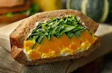 Pumpkin-Infused Sandwiches - This New Pumpkin Sandwich is Being Offered Across Japan at Starbucks