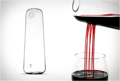 Taste-Enhancing Decanters - The Rainman Carafe Beautifully Pours and Aerates Wine