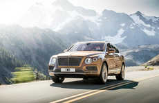 Luxury Golden Vehicles - The Bentley Bentayga is Rumored to Be the Most Opulent SUV Made