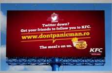 Social Downtime Campaigns - KFC's In-Store Promotion Provides Free Meals when Social Media is Down
