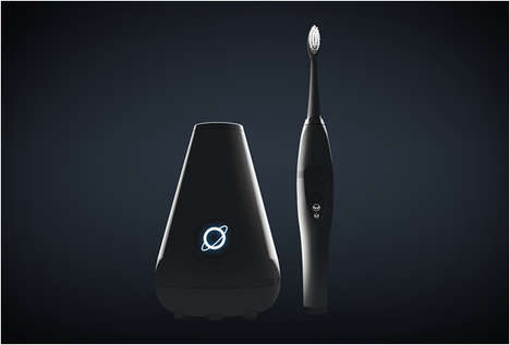 Self-Cleaning Toothbrushes - The Electric Toothbrush Aura Clean Features a Dock That Zaps Dirt