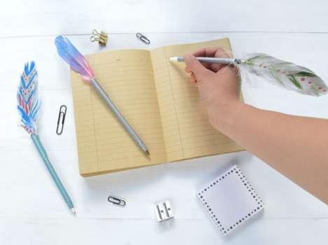 DIY Feather Pens