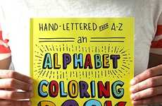 Typographic Coloring Books - This Activity Book Contains Beautiful Hand-Drawn Letters