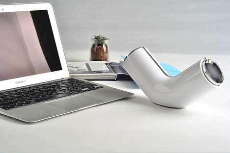 Bent Bluetooth Speakers - This Pipe Speaker Features a Dynamic Visual Design