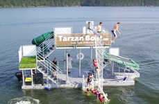 Floating Waterparks - The Tarzan Boat Brings a Boatload of Attractions to Virtually Anywhere