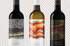 Dirt-Inspired Wine Labels - These Wines Sport Labels That Visually Describe the Dirt They Came From