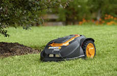 Automatic Lawn Care Robots - The WORX Landroid Robotic Lawn Mower Avoids Obstacles Like a Pro