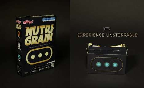 VR Cereal Boxes - Nutri-Grain's BOLT Cereal Box Lets People Experience Virtual Reality