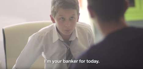 Kid-Run Banks - Record Bank's Financial Campaign Has Young Kids Run Its Bank for a Day