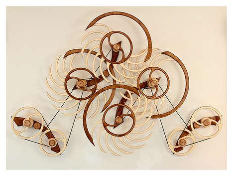 Kinetic Wooden Sculptures