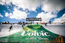Volcanic Hot Tubs - This Hot Tub Design at Tough Mudder Advertises Mineral Water Brand Volvic