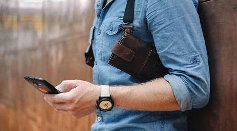 This Leather Holster is a Hands-Free Harness for Both a Phone and Wallet
