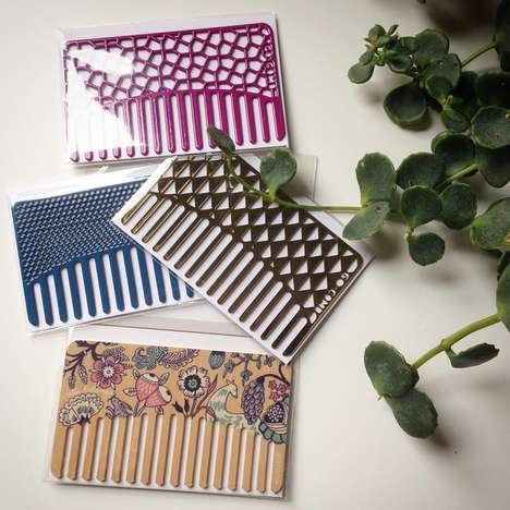 Convenient Card-Sized Combs - This Pocket Comb Fits Perfectly into a Wallet Card Slot