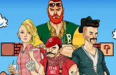 Hipster Video Game Characters - These Images Display Super Mario Brothers Characters as Hipsters