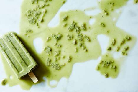 Matcha Ice Pops - These Homemade Green Tea Popsicles are Refreshing and Filled with Antioxidants