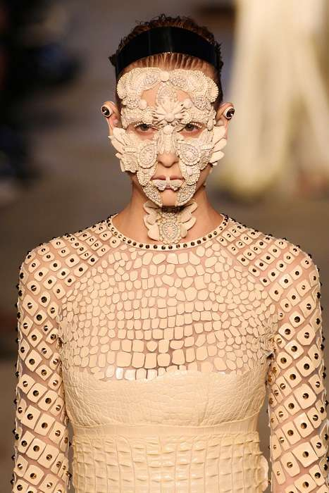 Bejeweled Runway Masks - The Givenchy's Spring Runway Show Featured Romantic Lace Masks