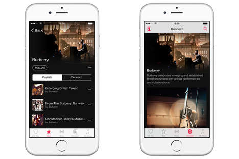 Couture Music Channels - Burberry's Apple Music Channel Fuses Fashion and Technology