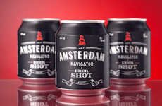Shot-Sized Beer Cans - The Amsterdam Navigator Small Beer Can Brands Itself as a Pocket-Sized Brew
