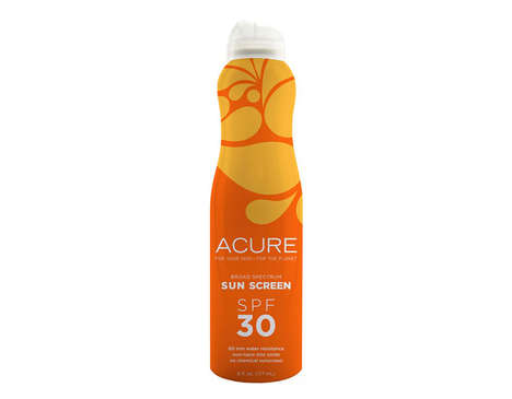 Mineral Spray Sunscreens - Acure's Chemical-Free Sunscreen Moisturizes with Argan Oil
